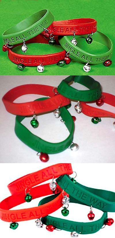 Party Supplies 51017: Wholesale Lot 200 Red Green Jingle Bells Rubber Bracelets Christmas Party Favors -> BUY IT NOW ONLY: $56.39 on eBay!