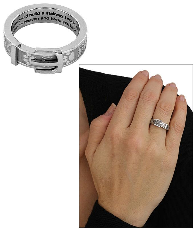 Paw Print Collar Ring for $24.95 you can provide 28 bowls of food and get this remembrance ring. The Animal Rescue Site store