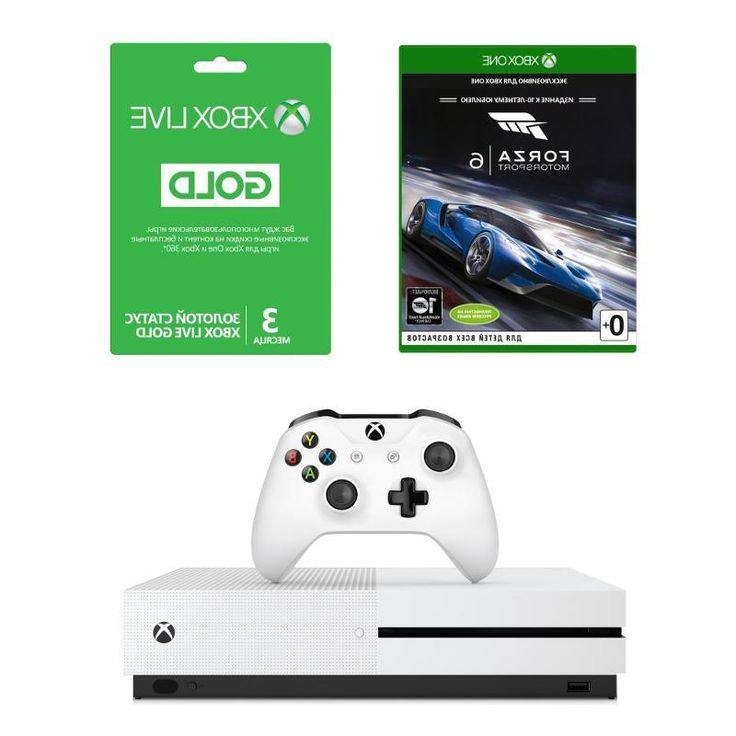 Игровая консоль Microsoft Xbox One S, 500 Гб [ZQ9-00013] + Forza 6 + Xbox Live Gold 3 месяца