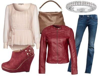 Ich liebe diese rote Lederjacke