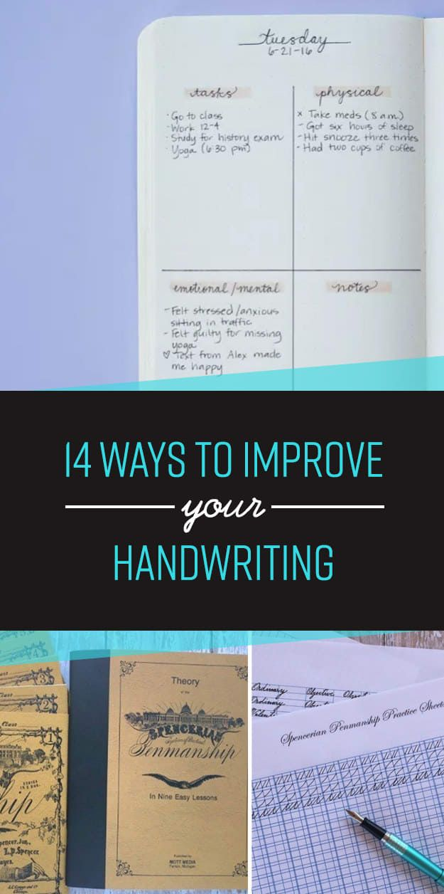 ~ 14 Simple Ways To Actually Improve Your Handwriting...because penmanship is no longer taught in schools! :(