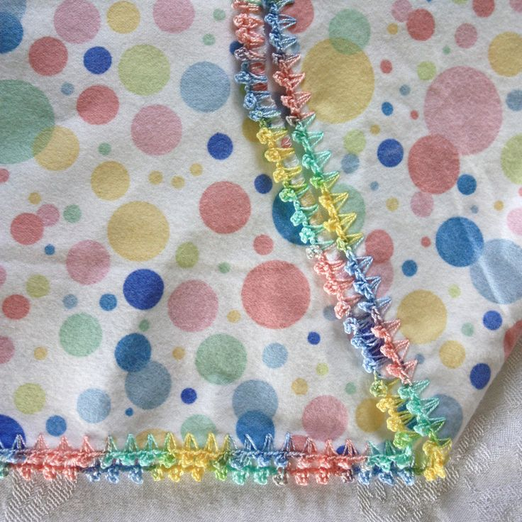 SewChic: More Crocheted Edgings--Directions:  Only one round: sc into fabric, (chain 3, slip-stitch into the sc (picot made), sc into same hole as first sc, chain 1, sc into next place in fabric, approx. 1/4-inch apart); repeat around.