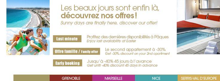 Les beaux jours sont enfin là !  Profitez de notre confort tout en faisant des économies ! http://www.hipark-residences.com/web/jcms/c_5100/offres-speciales #Bonsplans #SpecialOffer