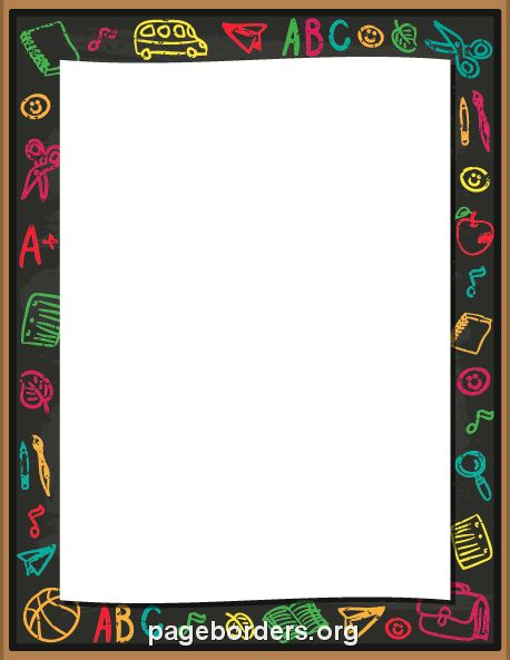 Printable school chalk border. Use the border in Microsoft Word or other programs for creating flyers, invitations, and other printables. Free GIF, JPG, PDF, and PNG downloads at  http://pageborders.org/download/school-chalk-border/