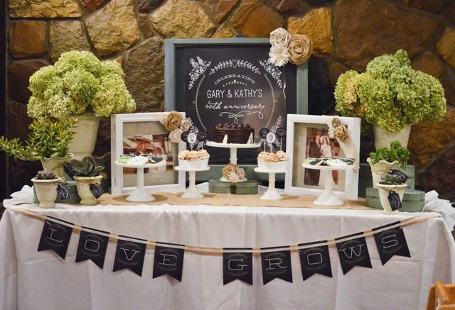 A Love Grows Themed Anniversary Party