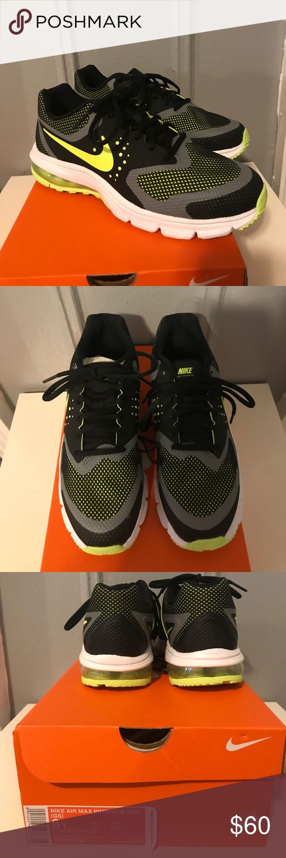 Boys Nike Air Max Premiere Run Sneakers - New!! Boys Nike Air Max Premiere Run Sneakers - Brand New! Size 6Y.  Also fits women's size 7.5/8. Nike Shoes Sneakers