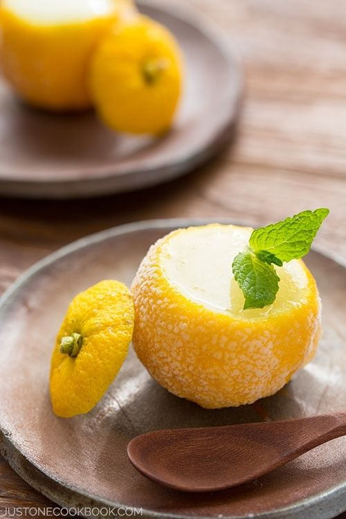 Refreshing Yuzu Sorbet - super easy to make and irresistibly tasty with citrusy-floral essense of yuzu fruit. | Easy Japanese Recipes at JustOneCookbook.com