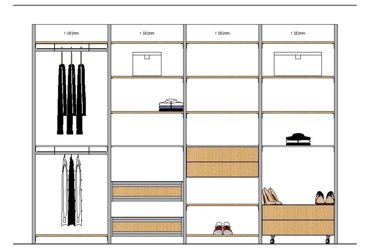 Closet elevation 14