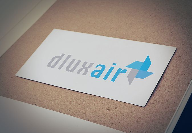dluxair logo design // Airconditioning service company
