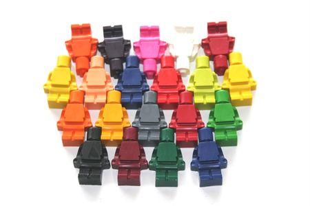 8 Multicolour Lego Men Crayons