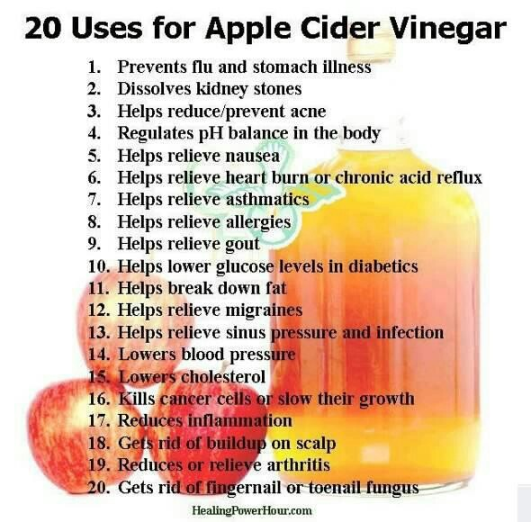 Good idea appel cider helpt!