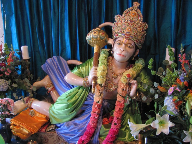 Krishna Das told me this was the most beautiful Hanuman murti he's seen in the world.