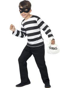 Disfraz ladrón de banco para niño