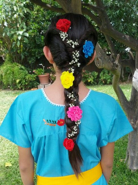 Mexican Wedding Flower Girl Hairstyle Mexican Hair