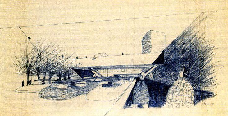 En 1957, Alison y Peter Smithson se presentaron al concurso que el ayuntamiento de Berlín proponía para rehabilitar el centro de la ciu...