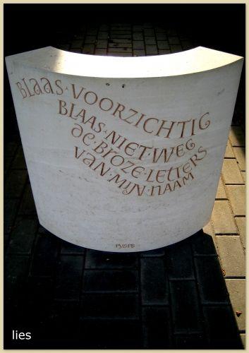 letters in steen - Pieter Boudens