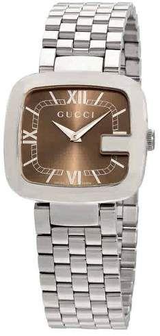 f929ed379bcdd Gucci G Brown Dial Ladies Watch YA125413