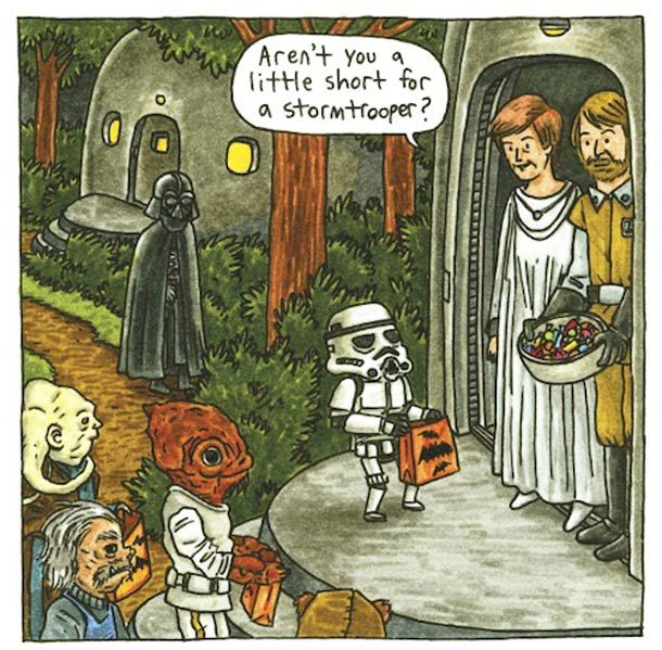 """SO CUTE! - """"What if Darth Vader took an active role in raising his son? What if """"Luke, I am your father"""" was just a stern admonishment from an annoyed dad? In this hilarious and sweet comic reimagining, Darth Vader is a dad like any other—except with all the baggage of being the Dark Lord of the Sith."""""""