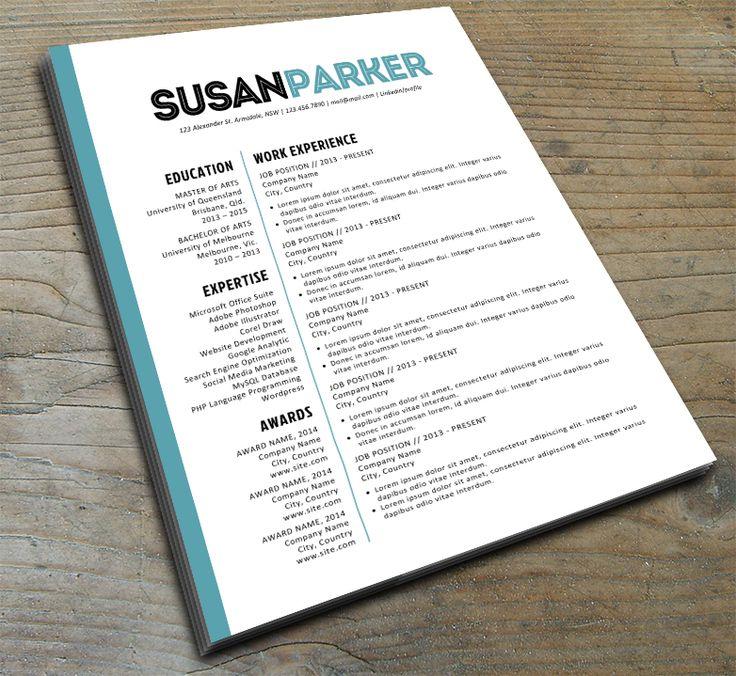 susan parker resume template on kukook 8
