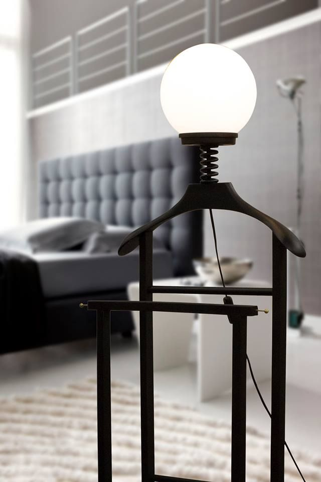 Gaio - Il Servo Muto  created from Lalita Laboratorio Creativo Original lamp from an old valet stand reinvented!