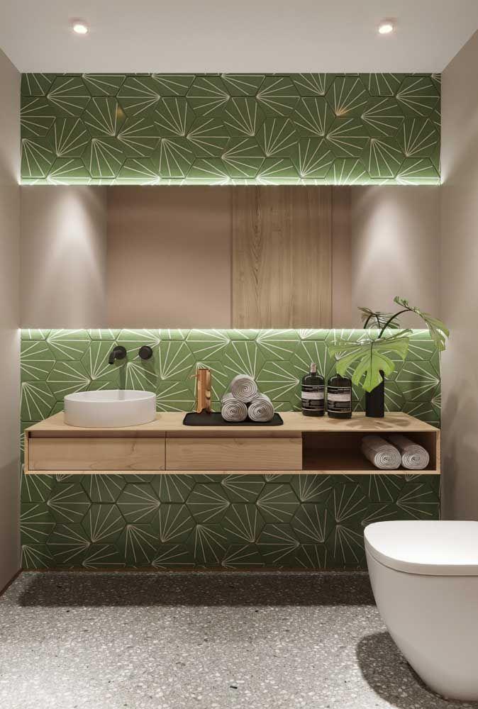 Resultado de imagem para papael parede verde decoração