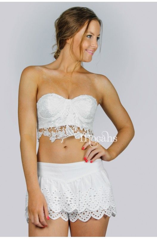"""Baby Boo"" Lace Shorts- Super cute lace shorts! Tiered lace overlay! Elastic waisted! Lined!"