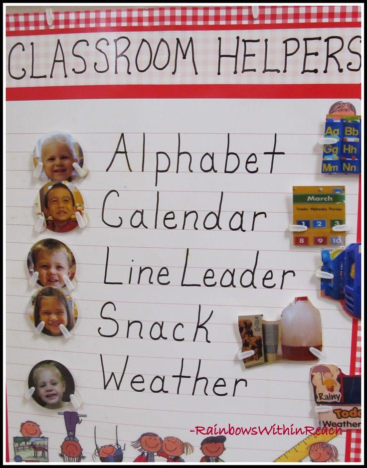 Classroom Helper Ideas ~ Best classroom helper chart ideas on pinterest