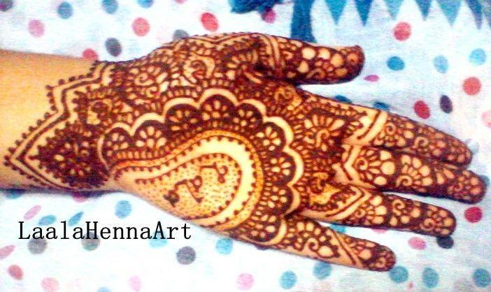 full henna on my palm, <3 it!  #laalahennaart