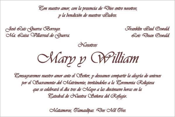 ejemplos tarjetas de invitacion para bodas con citas biblicas en español - Buscar con Google