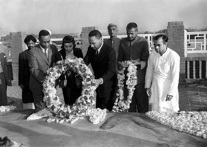 1959: Dr. Martin Luther King Jr. Paying Homage to Mahatma Gandhi via reddit