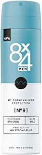 8X4 Men Deo Spray NÂ9 Dry Cool im 1er Pack 1 x 150ml Herren Deodorant mit aroma…