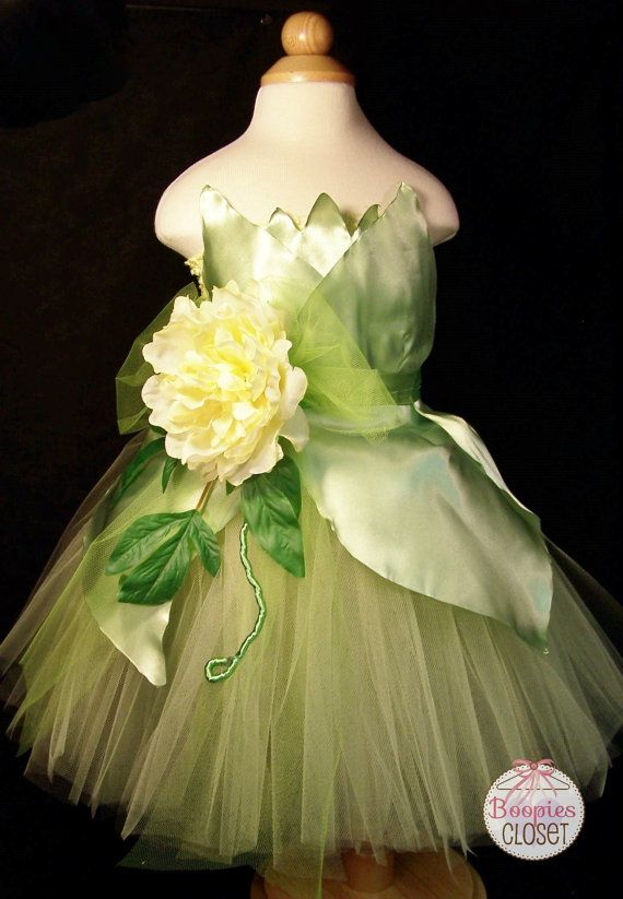 New Orleans Princess Tutu Tiana Dress Up Costume by BoopiesCloset