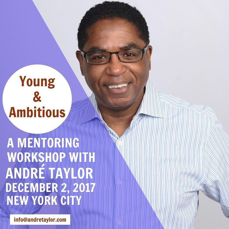 Im doing a special event in New York City for those of you 35 and under. Join me for a two hour workshop exploring proven success principles to help you develop confidence make plans for your future identify the best paths and work smart toward achieving your career and life goals. Check the events page at andretaylor.com for details. #AndreTaylor #Entrepreneur #Authors #Blogger #Excellence #Leadership #SmallBusiness #Startup #Inc #BusinessGrowth #KeynoteSpeaker #MotivationalSpeaker…