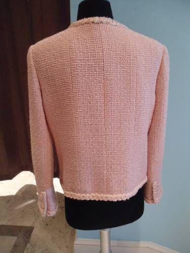 80s Шанель Розовый пиджак