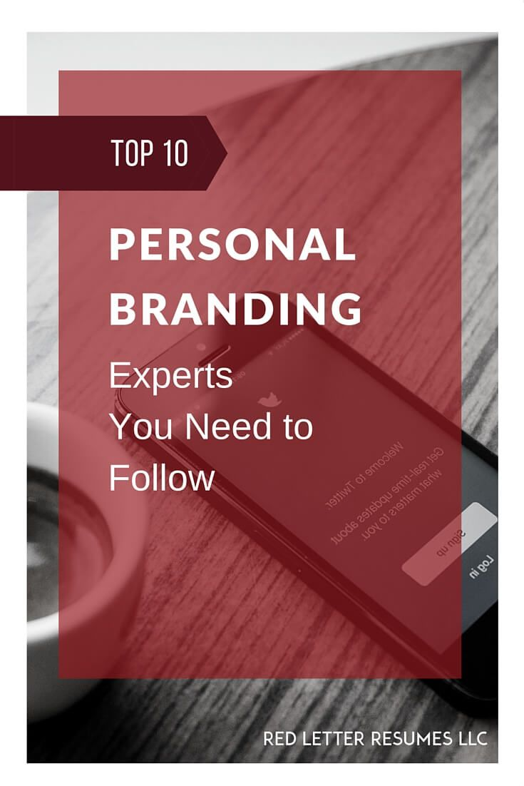 Find an expert that speaks to you and get the best advice for building your personal brand! @redletterresume