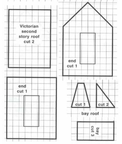 130 best Glitter Houses Plans and Patterns - Putz Houses images on ...