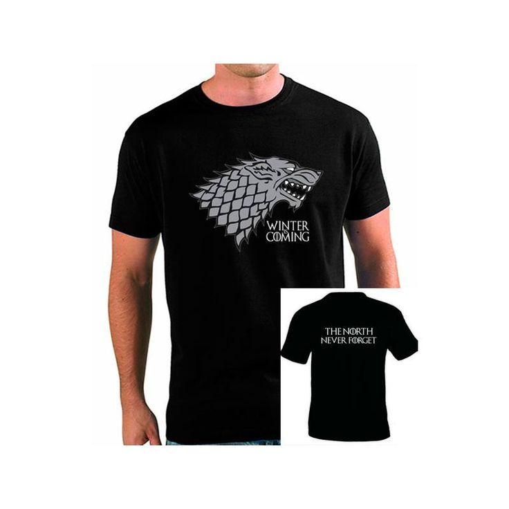 Camiseta Juego de Tronos Stark.Mxgames.es