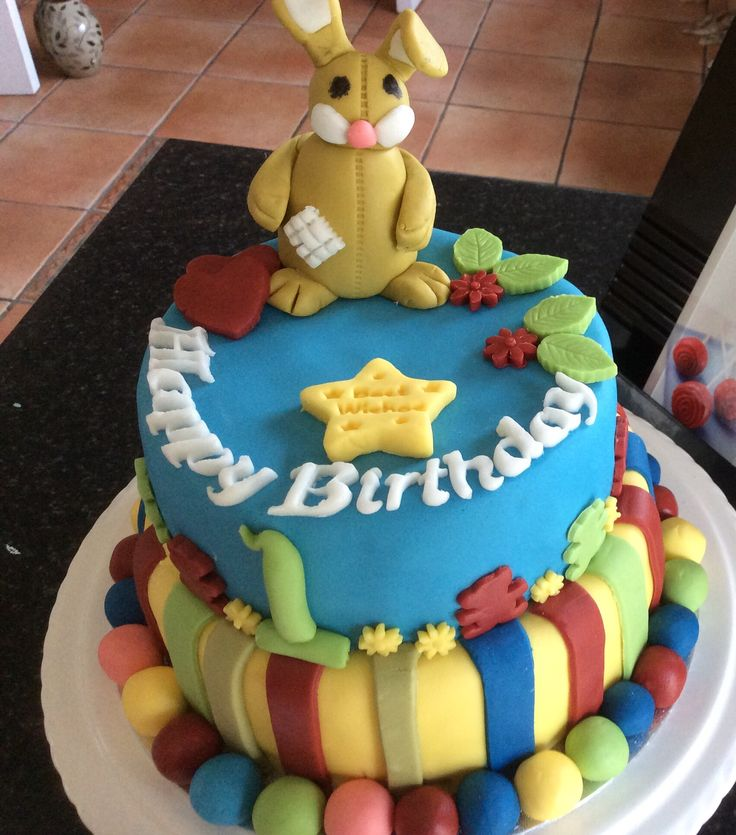Birthday cake for a baby boy