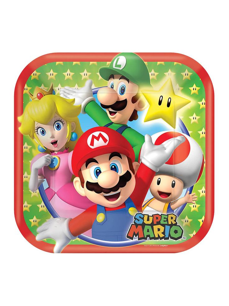 Locate Super Mario 7 Quot Cake Plates 8 Pack And Other