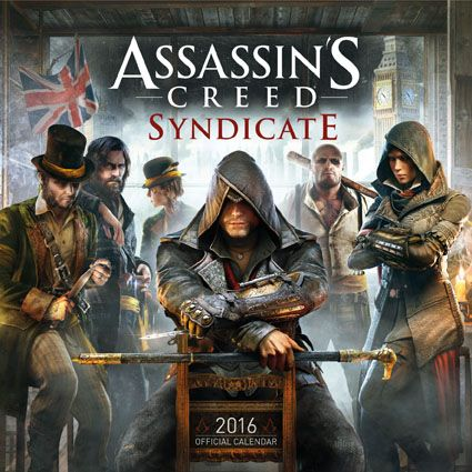 Official Assassins Creed Syndicate 2016 Calendar available from Publishers at https://www.danilo.com/Shop/Calendars/Gaming-Calendars