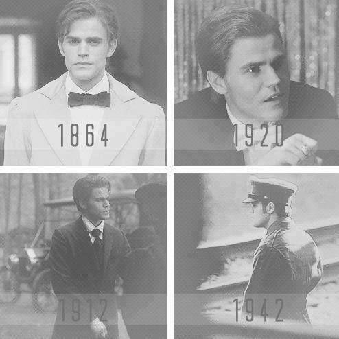 #TVD The Vampire Diaries Stefan Salvatore(Paul Wesley) in 1864,1920,1912 & 1942