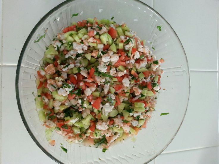 How to make ceviche!  Quick easy and traditional! You can use imitation crab if shrimp is a bit expensive