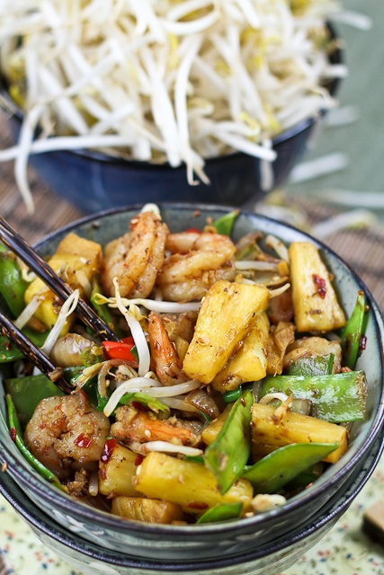 Quick and Easy Pineapple Shrimp Stirfry...The Healthy Foodie