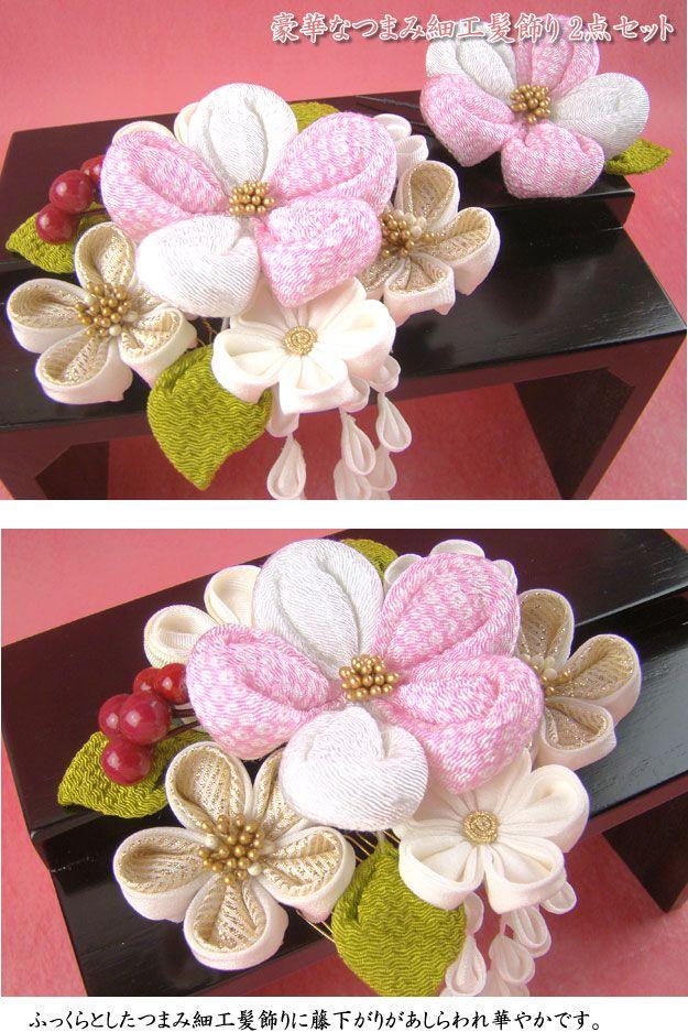 【楽天市場】つまみ細工髪飾り 梅の花藤下がり付き ピンク 成人式 結婚式 浴衣 振袖用 花 袴 七五三 和装 着物:楽市きもの館