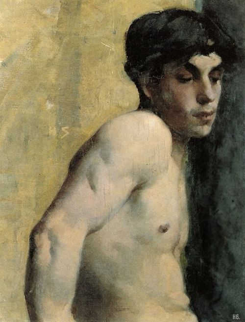 Study of a youth. 1882. Helene Schjerfbeck. Finnish. 1862-1946. oil on canvas.