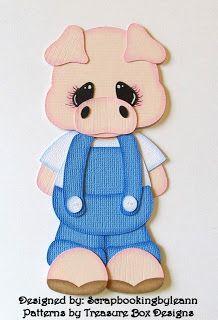 Scrapbookingbyleann Designs: New Pig & Cow Paper Piecings