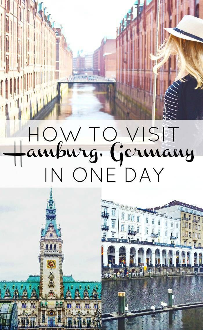 A FULL one-day itinerary to beautiful Hamburg, Germany!