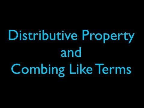how to use the distributive property in algebra