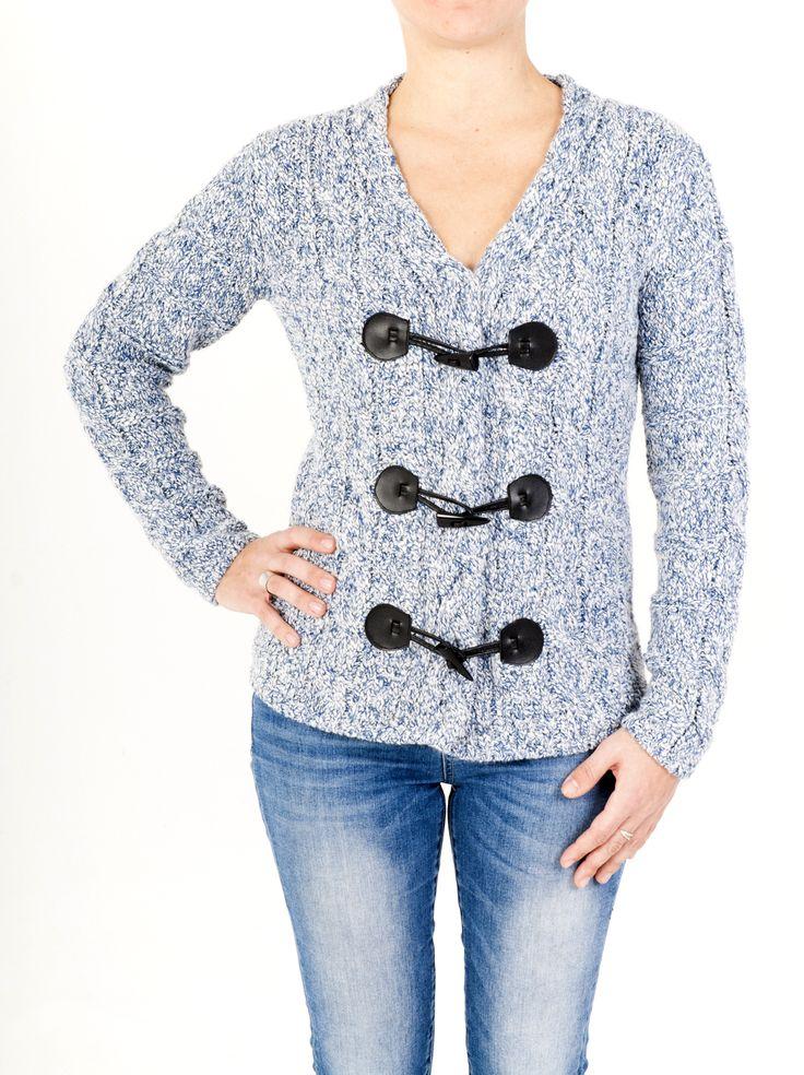 Chaqueta de mujer de cuello doble con punto trenzado ideal para la temporada de frío. Diseño original en 6 colores. Combínala a tu gusto. ¡Comprar ahora!