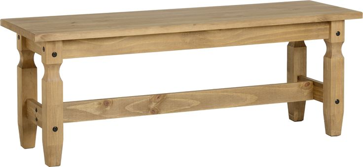 sales@spt-furniture.com  Corona 4' Dining Bench Distressed Waxed Pine  Assembled Sizes(MM) 1200 x 380 x 460  PINE Extra Information TOP THICKNESS 25MM LEG THICKNESS 55MM